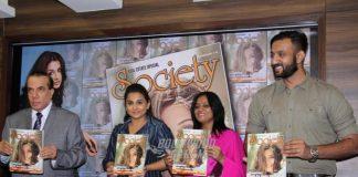 Vidya Balan all smiles at Society Magazine cover launch
