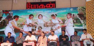 Prabhu Deva and Hansika Motwani at Bogan trailer and audio launch event