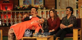 Sonu Nigam, Anu Malik and Farah Khan on sets of The Kapil Sharma Show