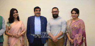 Aamir Khan and Sakshi Tanwar screen Dangal for Nitin Gadkari and Shaina NC
