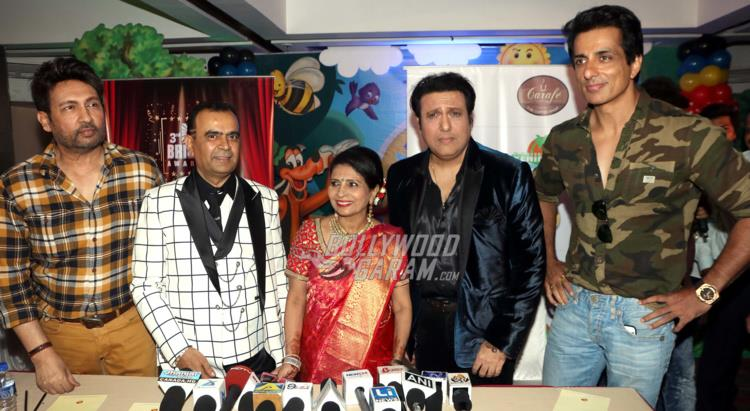 Shekhar Suman, Yogesh Lakhani, Govinda and Sonu Sood unveil 3rd Bright Awards Trophy