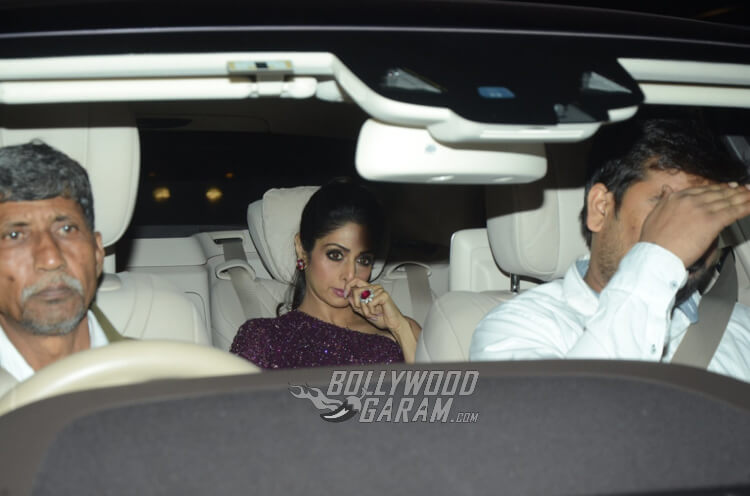 Sridevi Kapoor headed off to Filmfare Awards Party