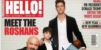 Hrithik Roshan along with father and sons pose for Hello Magazine cover