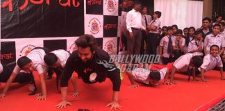 Jackky Bhagnani and Aditya Thackeray promote KASRAT program with BMC children