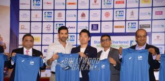 John Abraham at Standard Chartered Mumbai Marathon press event