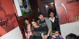 Hrithik Roshan, Susanne Khan and Yami Gautam at Kaabil screening