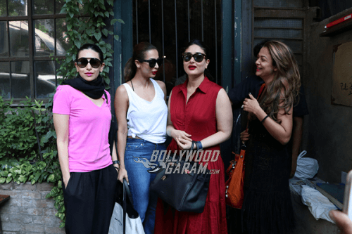 January 7,2017. From left Karishma Kapoor, Malaika Arora, Kareena Kapoor, Amrita Arora
