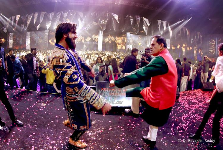 Ranveer Singh shakes a leg with T Subbarami Reddy