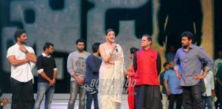 Chiranjeevi and Kajal Agarwal at Khaidi No. 150 pre-release event