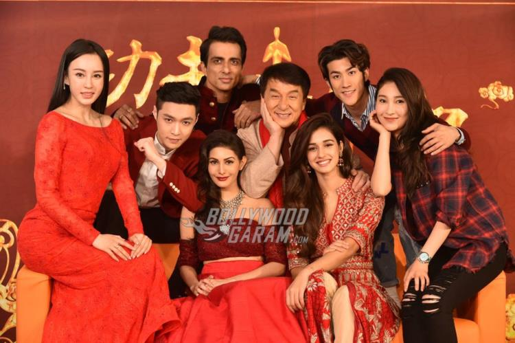 Lead cast at Kung FU Yoga promotions