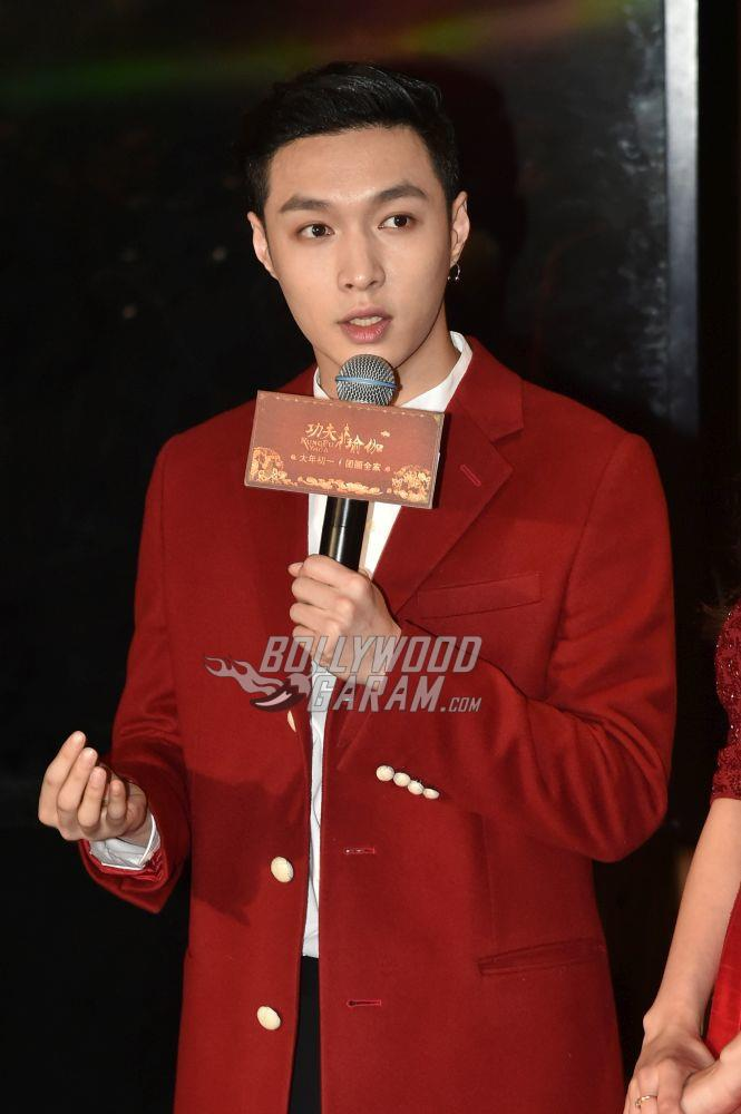 Lay Zhang at Kung FU Yoga promotions
