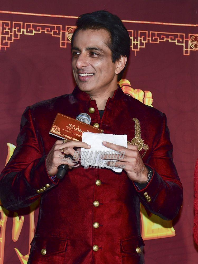Sonu Sood at Kung FU Yoga promotions