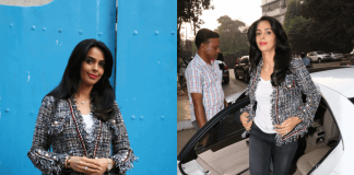 Mallika Sherawat Snapped at Olive restaurant Bandra – Photos