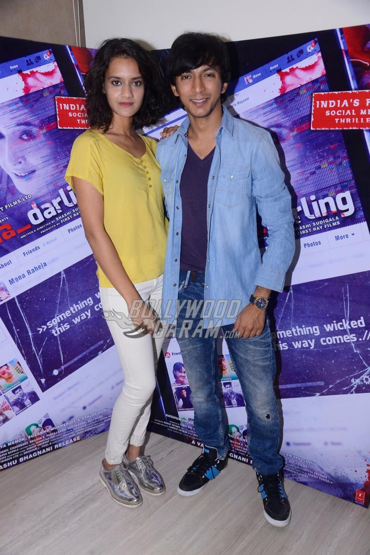 Divya Menon and Anshuman Jha at Mona Darling promotions