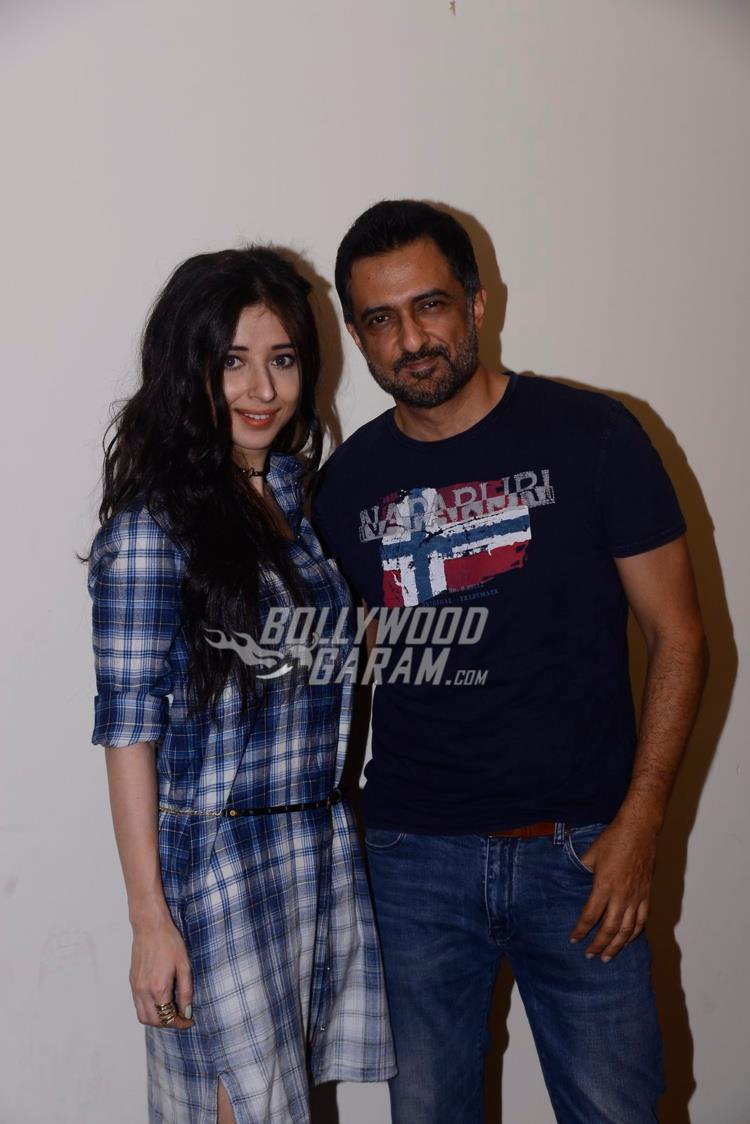 Suzanna Mukherjee and Sanjay Suri at Mona Darling promotions