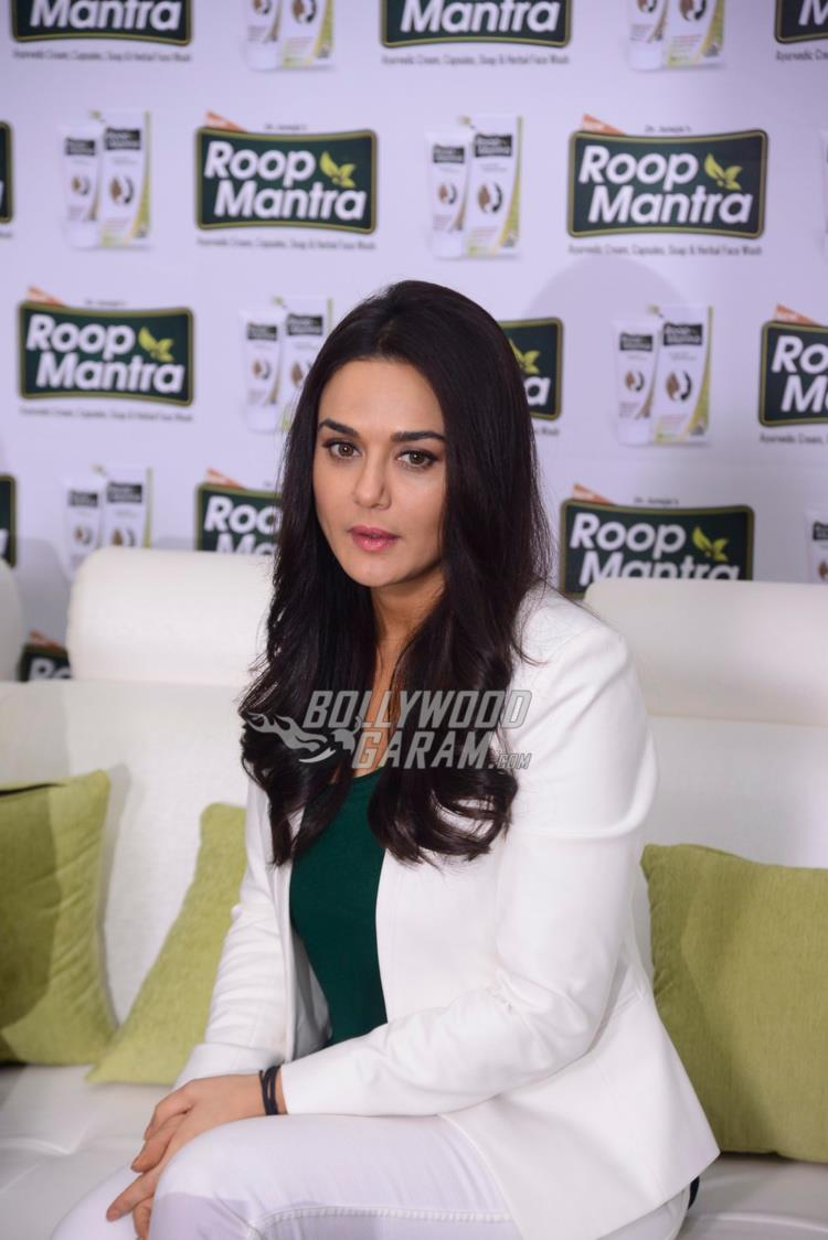 Preity Zinta at Roop Mantra ad shoot