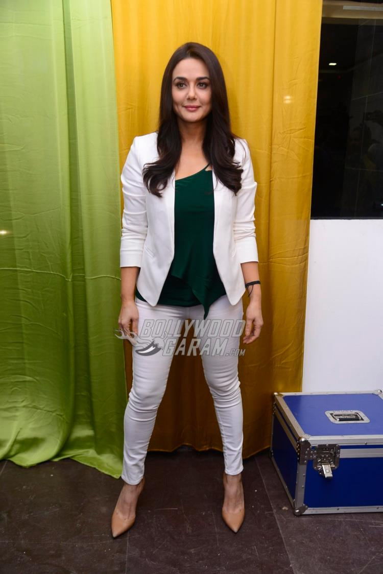 Preity Zinta poses at Roop Mantra ad shoot