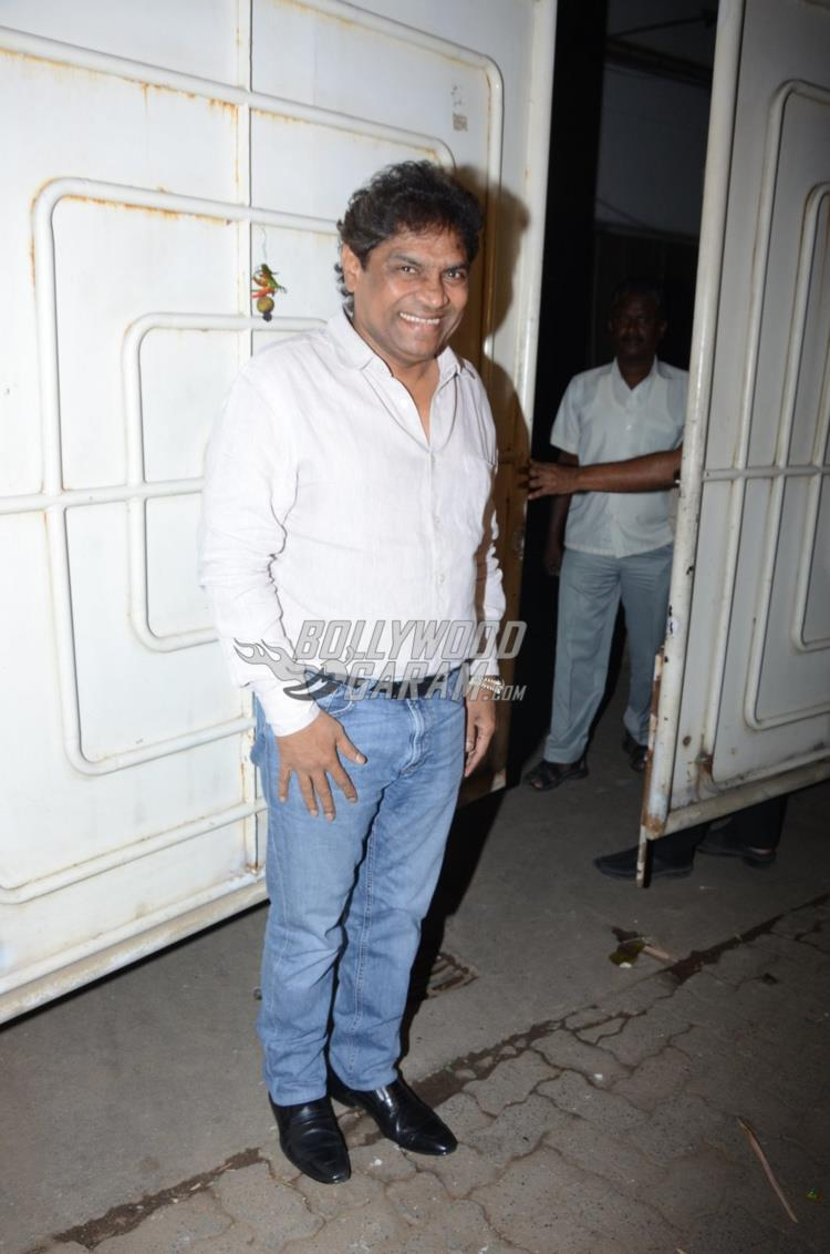 Johnny Lever at first screening of Raees
