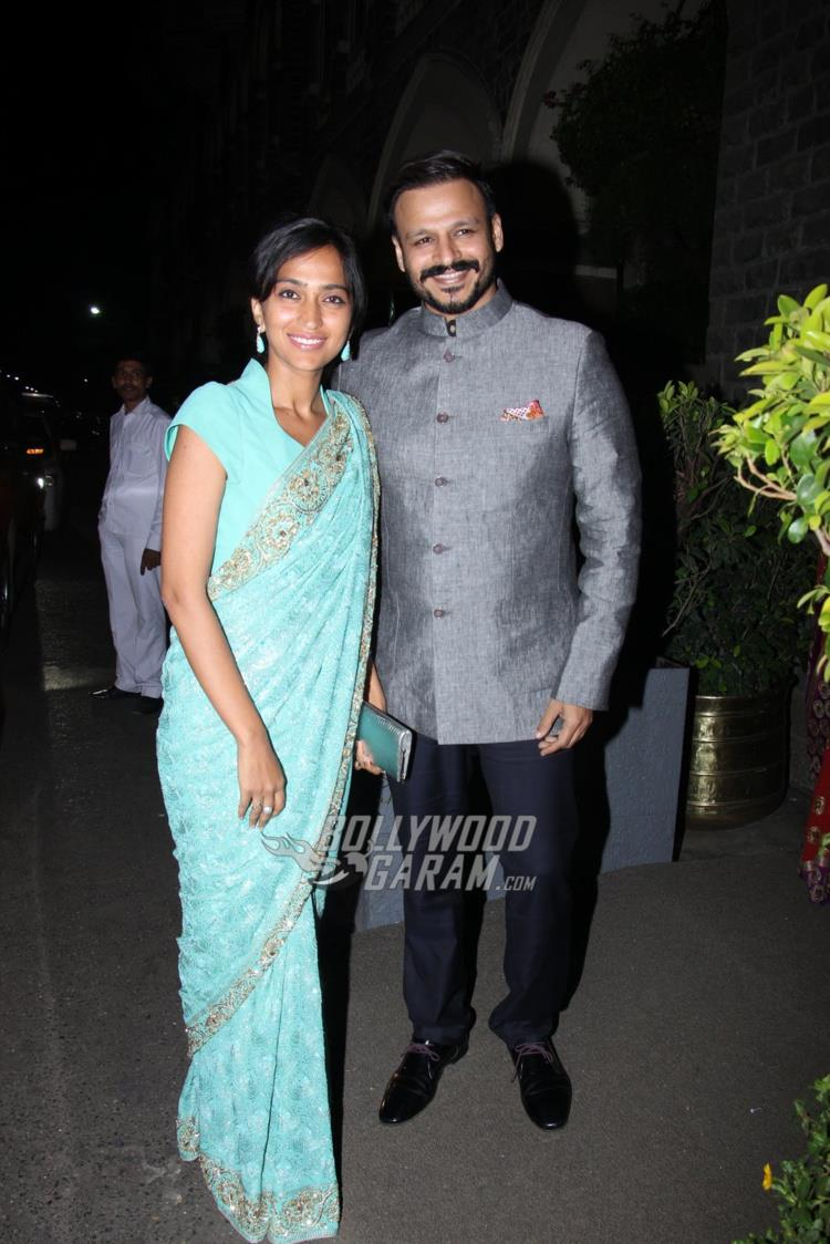 Vivek Oberoi and wife Priyanka at Rana Kapoor's daughter's wedding reception
