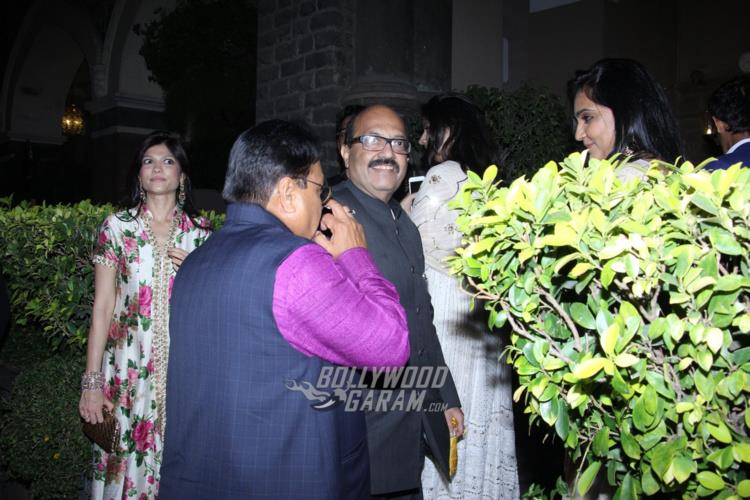Amar Singh at Rana Kapoor's daughter's wedding reception
