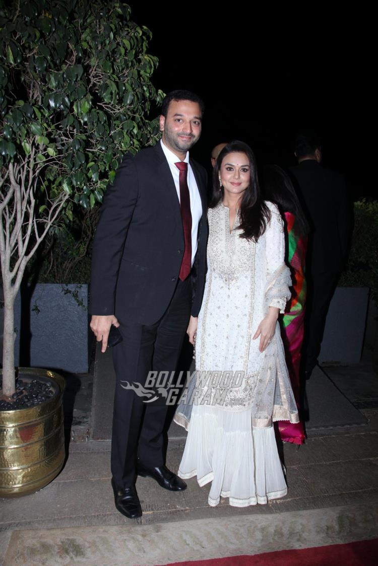 Preity Zinta at Rana Kapoor's daughter's wedding reception