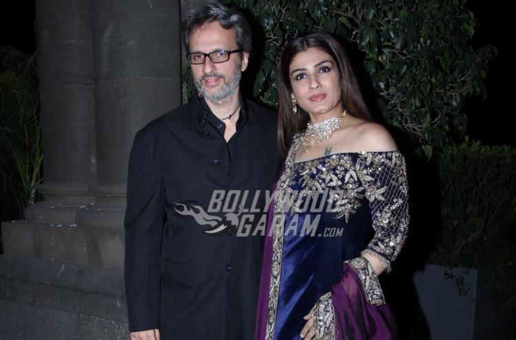 Anil Thadani and Raveena Tandon at Rana Kapoor's daughter's wedding reception