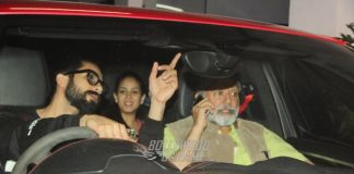Shahid, Mira and Pankaj Kapoor Attend Rangoon Special Movie Screening