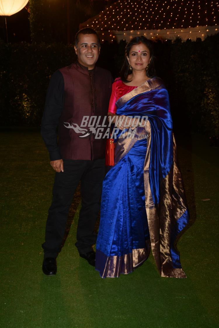 Chetan Bhagat at at Ronnie Screwvala's daughter's wedding reception