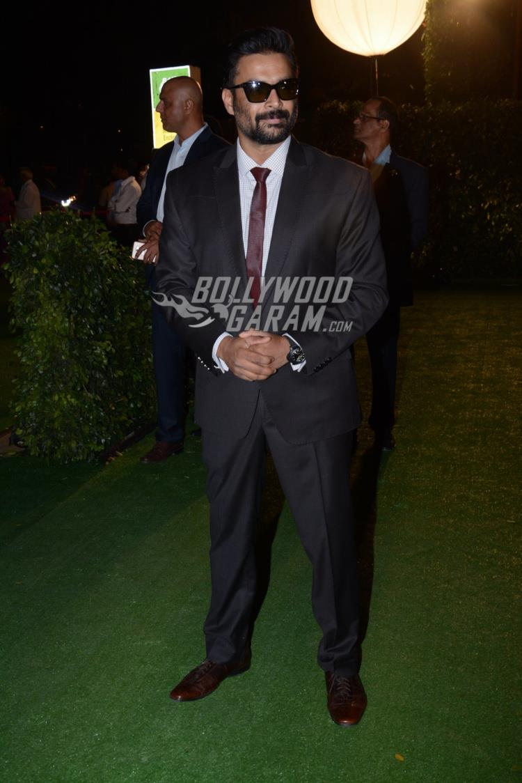 R Madhavan at at Ronnie Screwvala's daughter's wedding reception