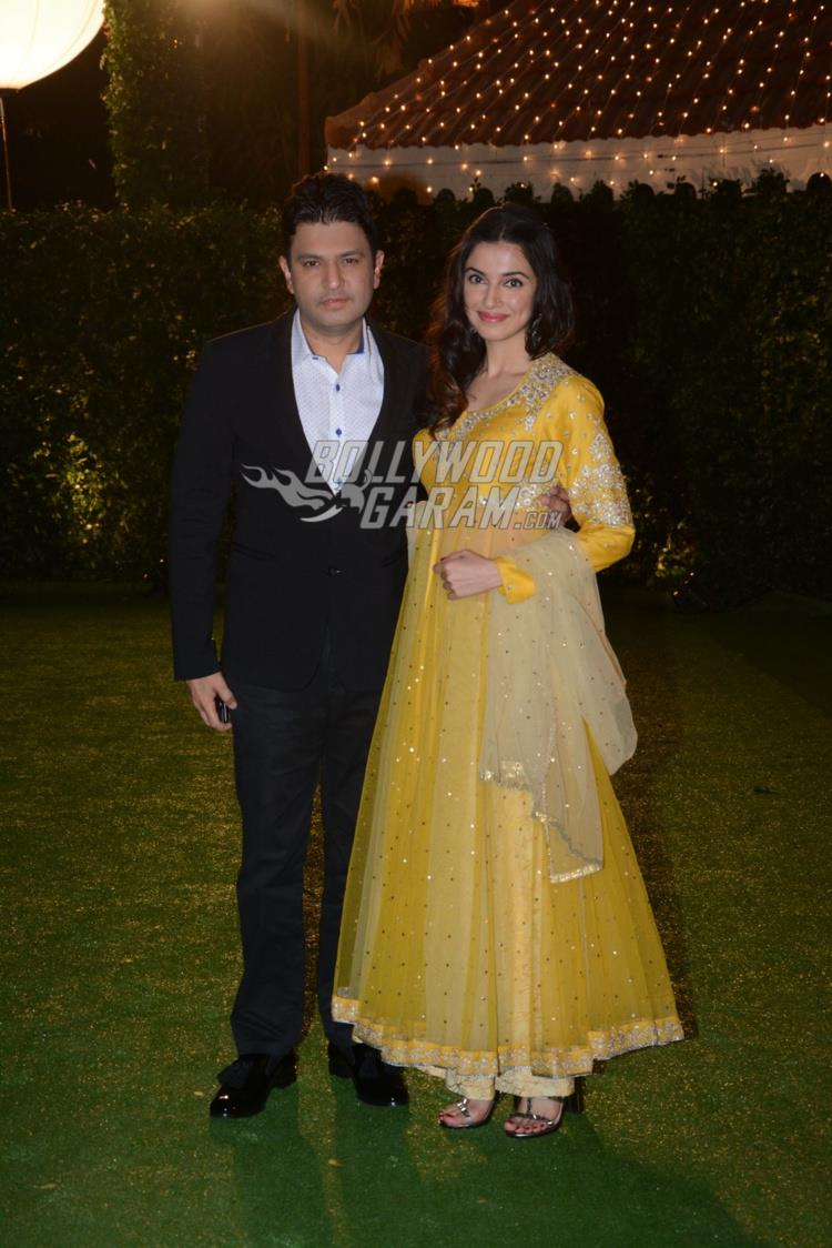 Divya Khosla and Bhushan Kumar at at Ronnie Screwvala's daughter's wedding reception
