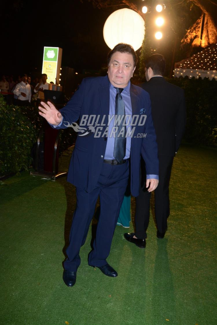 Rishi Kapoor at at Ronnie Screwvala's daughter's wedding reception