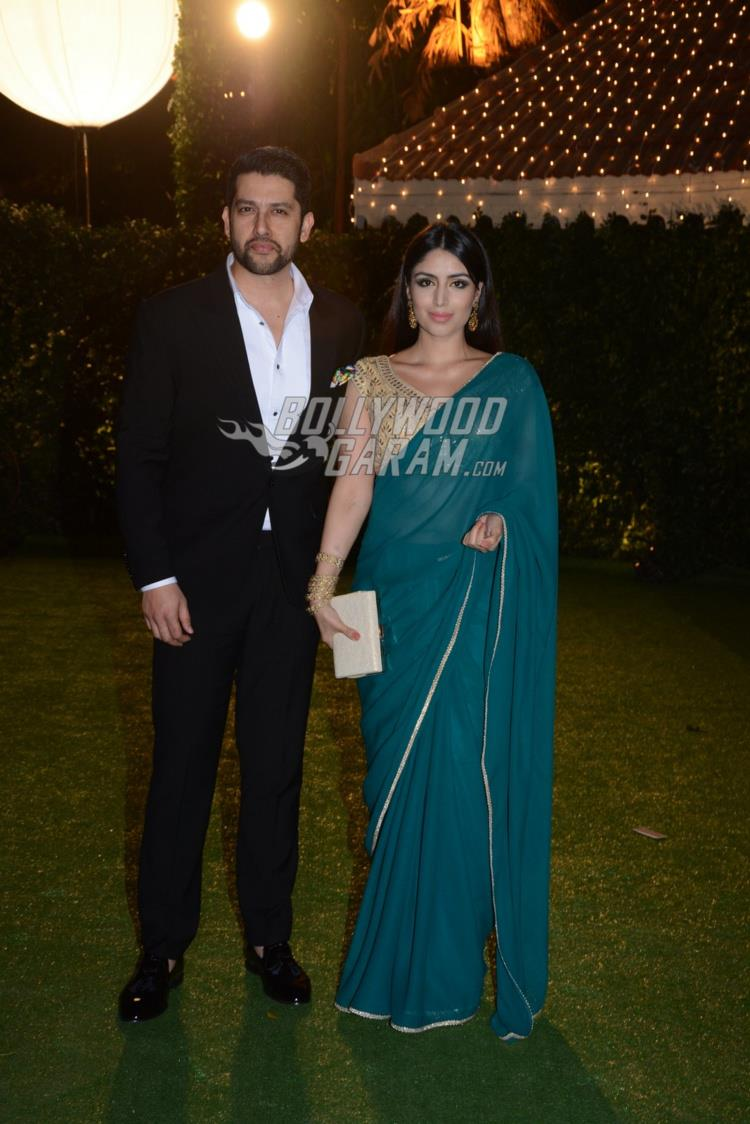 Aftab Shivdasani and Nin Dusanj at at Ronnie Screwvala's daughter's wedding reception