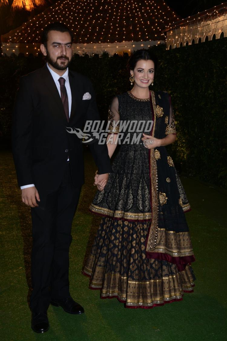 Dia Mirza and Sahil Sangha at at Ronnie Screwvala's daughter's wedding reception
