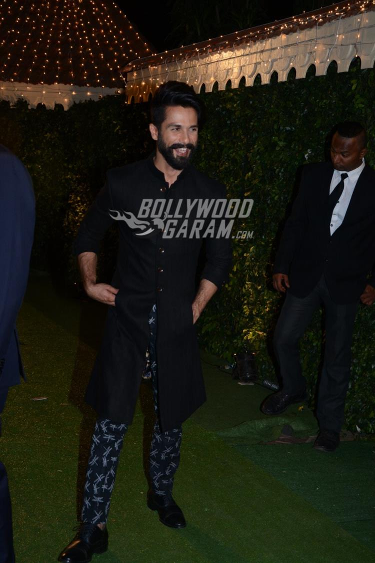 Shahid Kapoor at Ronnie Screwvala's daughter's wedding reception
