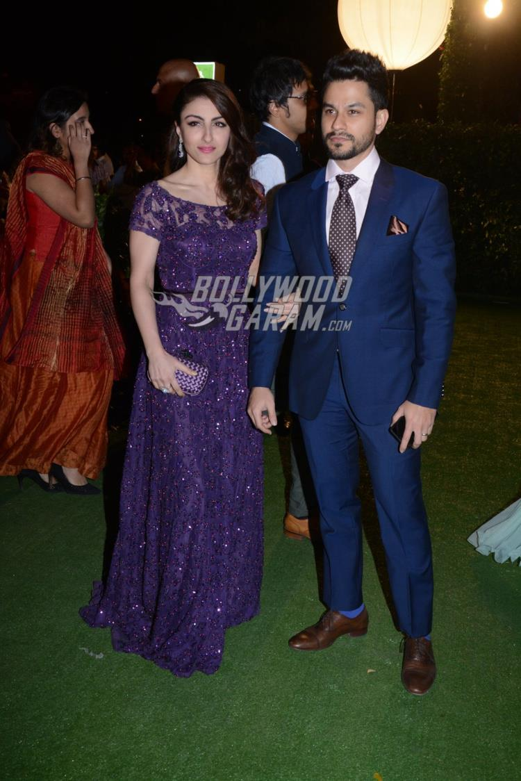 Soha ALi Khan and Kunal Khemu at at Ronnie Screwvala's daughter's reception