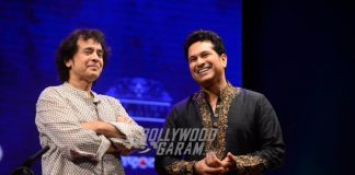 Zakir Hussain and Sachin Tendulkar come together at musical event