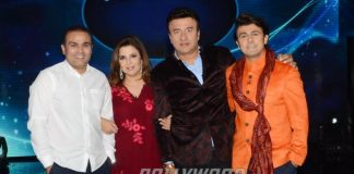Virender Sehwag bonds with Indian Idol 9 judges and contestants