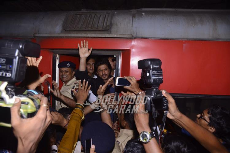 Shahrukh boards train