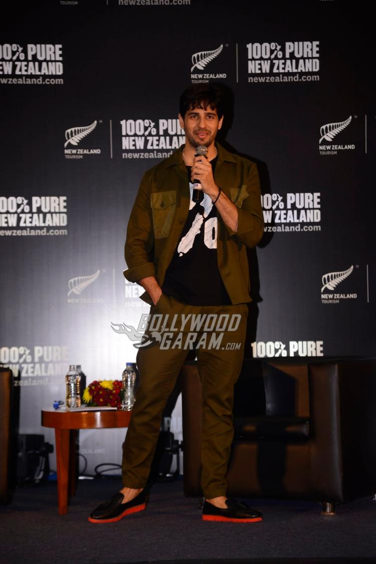 Sidharth interacts with the media at Tourism New Zealand event