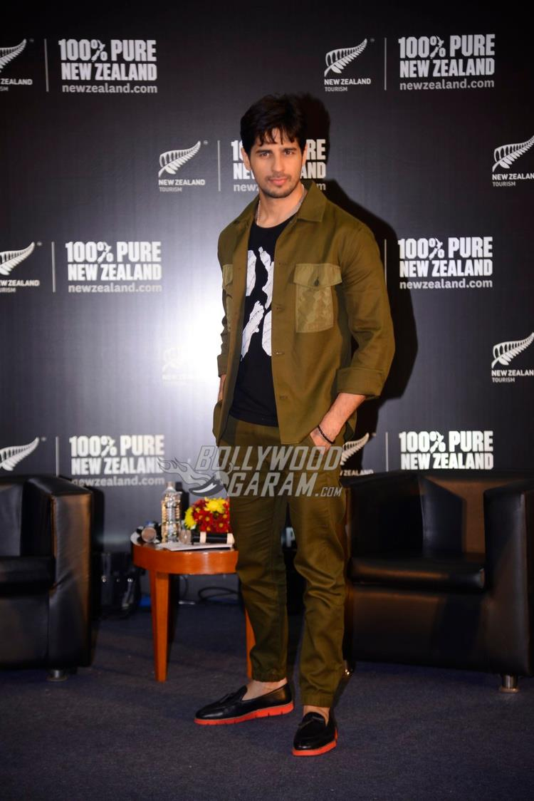 Sidharth Malhotra poses at Tourism New Zealand event