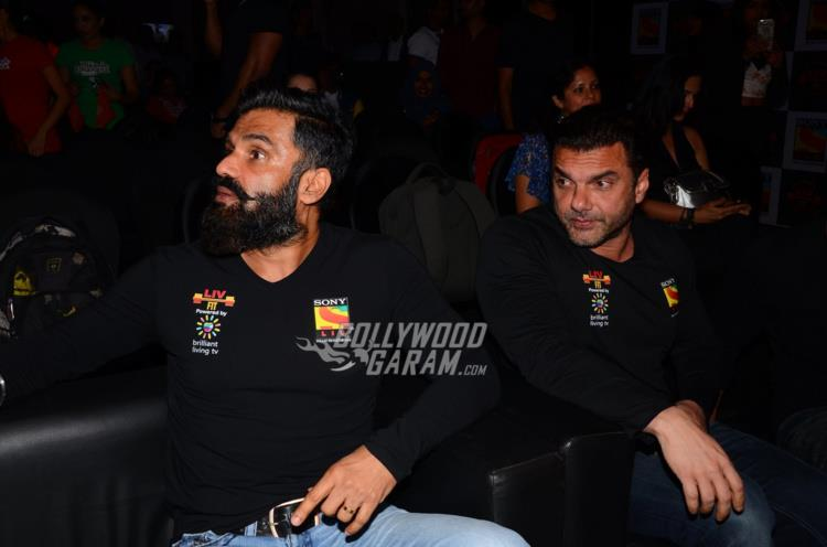 Suniel Shetty and Sohail Khan at Sony Liv Fitness event