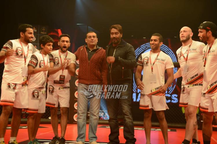 Ajay Devgn poses with his team