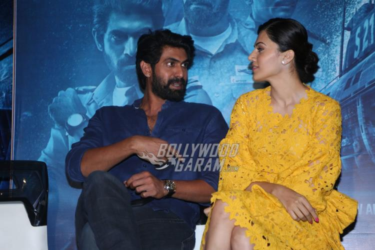 Rana Daggubati and Taapsee Pannu at The Ghazi Attack press event