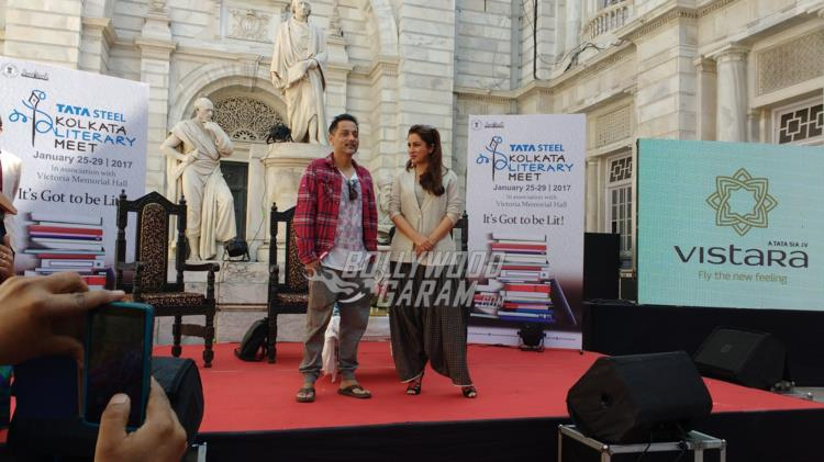 Sujoy Ghosh and Tisca Chopra at Kolkata Literary meet