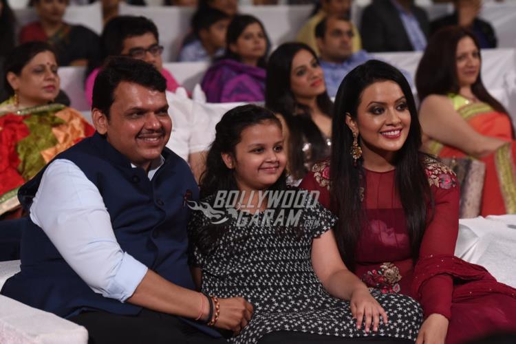 Devdra Fadnavis and family at Umang 2017