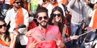 Kishwer Merchant and Suyyash Rai launch Baar Baar Dekho bike rally