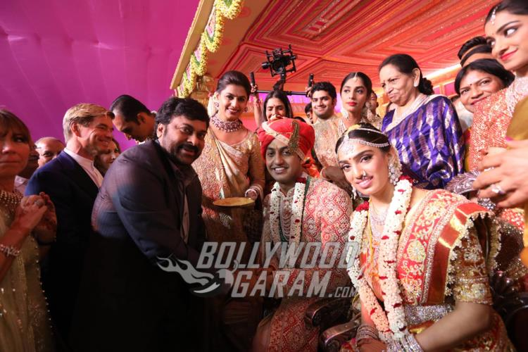 Chiranjeevi at Keshav Reddy and Veena Tera's wedding ceremony