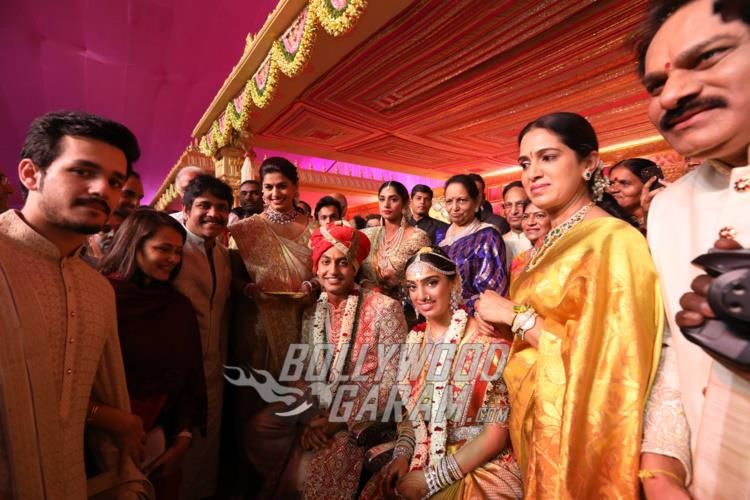 Nagarjuna's family wishes the newly-weds