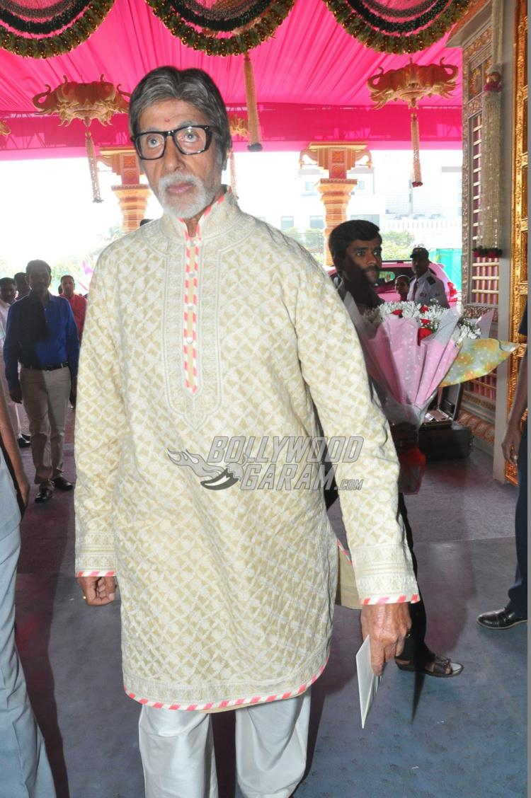 Amitabh Bachchan at Keshav Reddy and Veena Tera's wedding ceremony
