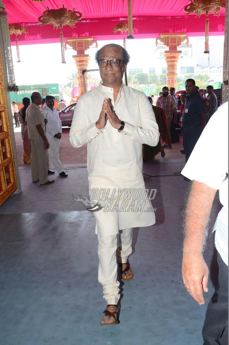 Superstar Rajinikanth at Keshav Reddy and Veena Tera's wedding ceremony